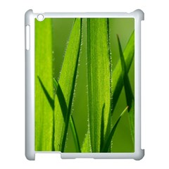 Grass Apple iPad 3/4 Case (White)