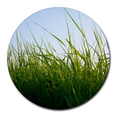 Grass 8  Mouse Pad (Round)