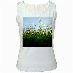 Grass Womens  Tank Top (White)