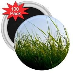 Grass 3  Button Magnet (100 pack)