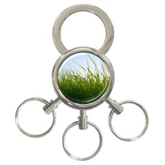 Grass 3-Ring Key Chain