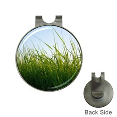 Grass Hat Clip with Golf Ball Marker