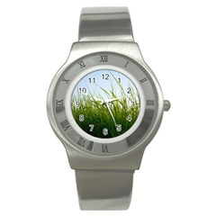 Grass Stainless Steel Watch (Unisex)