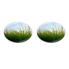 Grass Cufflinks (Oval)