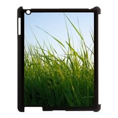 Grass Apple iPad 3/4 Case (Black)