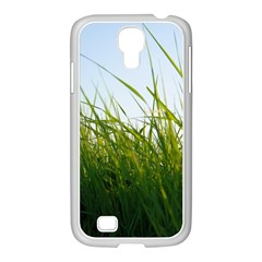 Grass Samsung GALAXY S4 I9500/ I9505 Case (White)