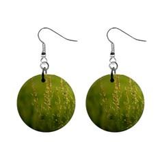 Grass Mini Button Earrings