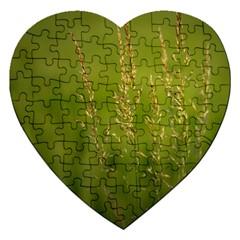 Grass Jigsaw Puzzle (heart)