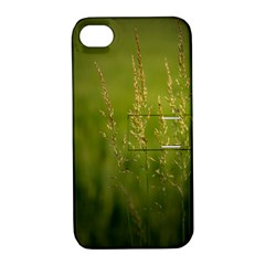 Grass Apple iPhone 4/4S Hardshell Case with Stand