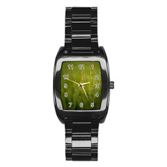 Grass Men s Stainless Steel Barrel Analog Watch