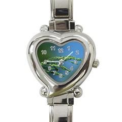 Waterdrops Heart Italian Charm Watch
