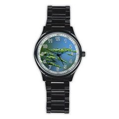 Waterdrops Sport Metal Watch (black)