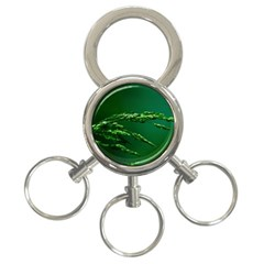 Waterdrops 3-Ring Key Chain