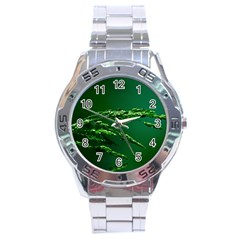 Waterdrops Stainless Steel Watch (men s)
