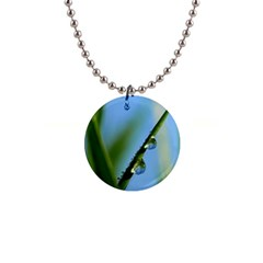 Waterdrops Button Necklace