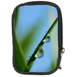 Waterdrops Compact Camera Leather Case Front