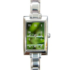 Waterdrops Rectangular Italian Charm Watch