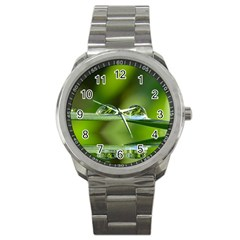 Waterdrops Sport Metal Watch