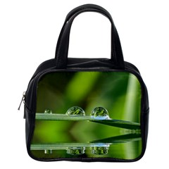 Waterdrops Classic Handbag (One Side)