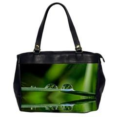 Waterdrops Oversize Office Handbag (One Side)
