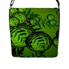 Magic Balls Flap Closure Messenger Bag (Large)