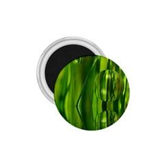 Green Bubbles  1 75  Button Magnet