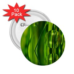 Green Bubbles  2.25  Button (10 pack)
