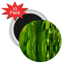Green Bubbles  2.25  Button Magnet (10 pack)