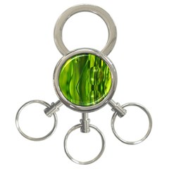 Green Bubbles  3-Ring Key Chain