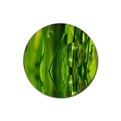Green Bubbles  Drink Coasters 4 Pack (Round)
