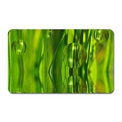 Green Bubbles  Magnet (Rectangular)