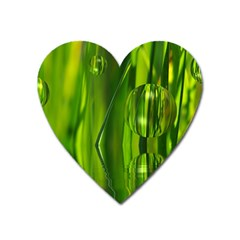 Green Bubbles  Magnet (Heart)