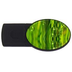 Green Bubbles  1GB USB Flash Drive (Oval)