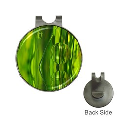 Green Bubbles  Hat Clip With Golf Ball Marker
