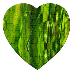 Green Bubbles  Jigsaw Puzzle (Heart)