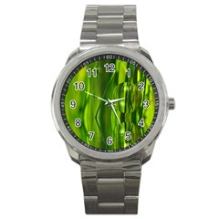 Green Bubbles  Sport Metal Watch