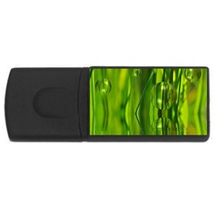 Green Bubbles  4GB USB Flash Drive (Rectangle)