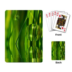 Green Bubbles  Playing Cards Single Design