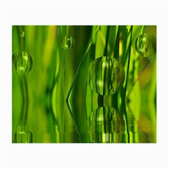 Green Bubbles  Glasses Cloth (Small, Two Sided)