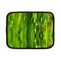 Green Bubbles  Netbook Case (Small)