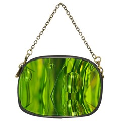 Green Bubbles  Chain Purse (Two Sided)