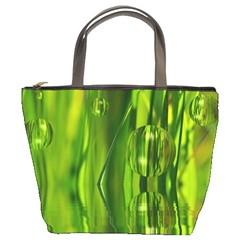 Green Bubbles  Bucket Bag