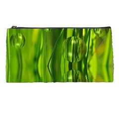 Green Bubbles  Pencil Case