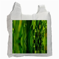 Green Bubbles  Recycle Bag (One Side)