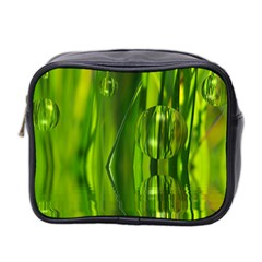 Green Bubbles  Mini Travel Toiletry Bag (Two Sides)