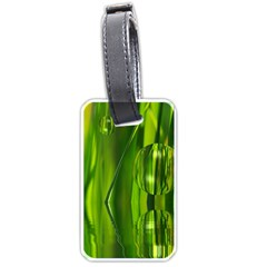 Green Bubbles  Luggage Tag (One Side)