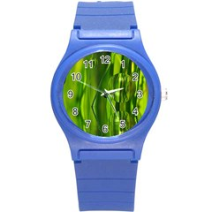 Green Bubbles  Plastic Sport Watch (small)