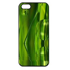 Green Bubbles  Apple Iphone 5 Seamless Case (black)