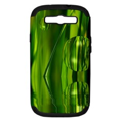 Green Bubbles  Samsung Galaxy S III Hardshell Case (PC+Silicone)
