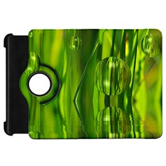 Green Bubbles  Kindle Fire Hd 7  Flip 360 Case
